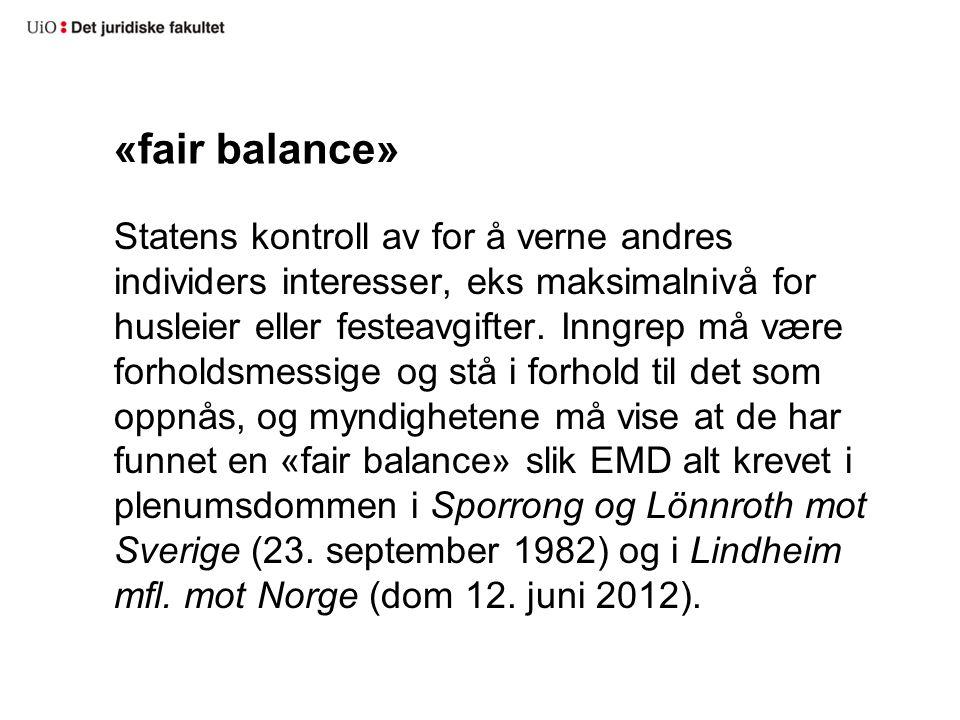 «fair balance»