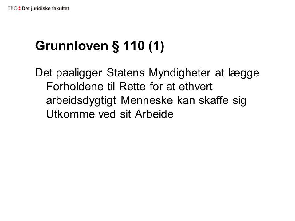 Grunnloven § 110 (1)