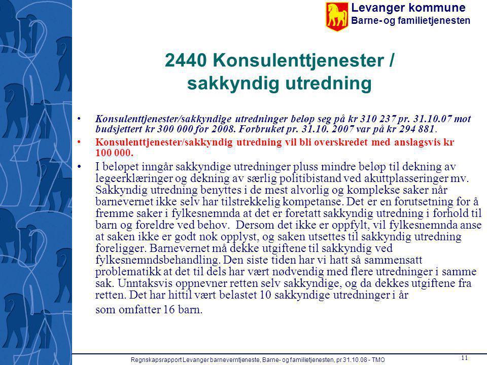 2440 Konsulenttjenester / sakkyndig utredning