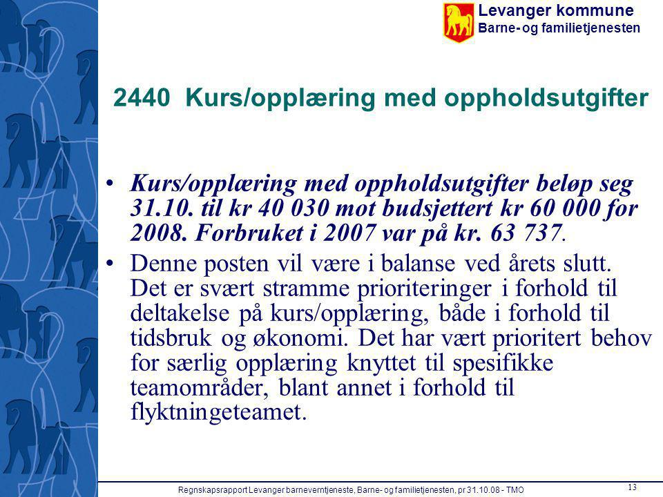 2440 Kurs/opplæring med oppholdsutgifter