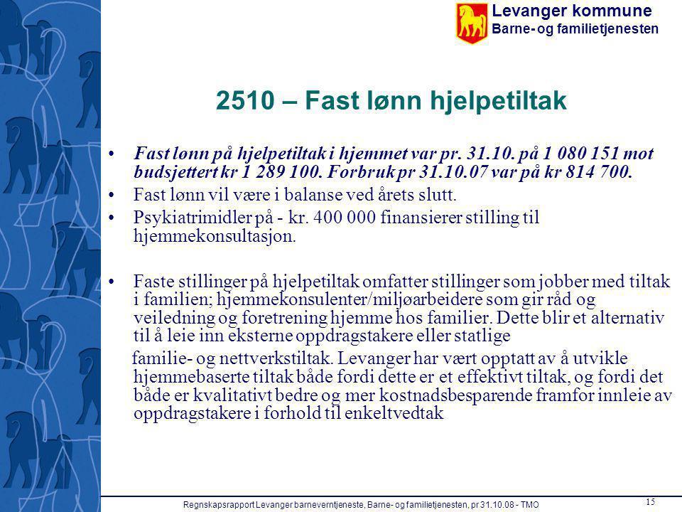 2510 – Fast lønn hjelpetiltak
