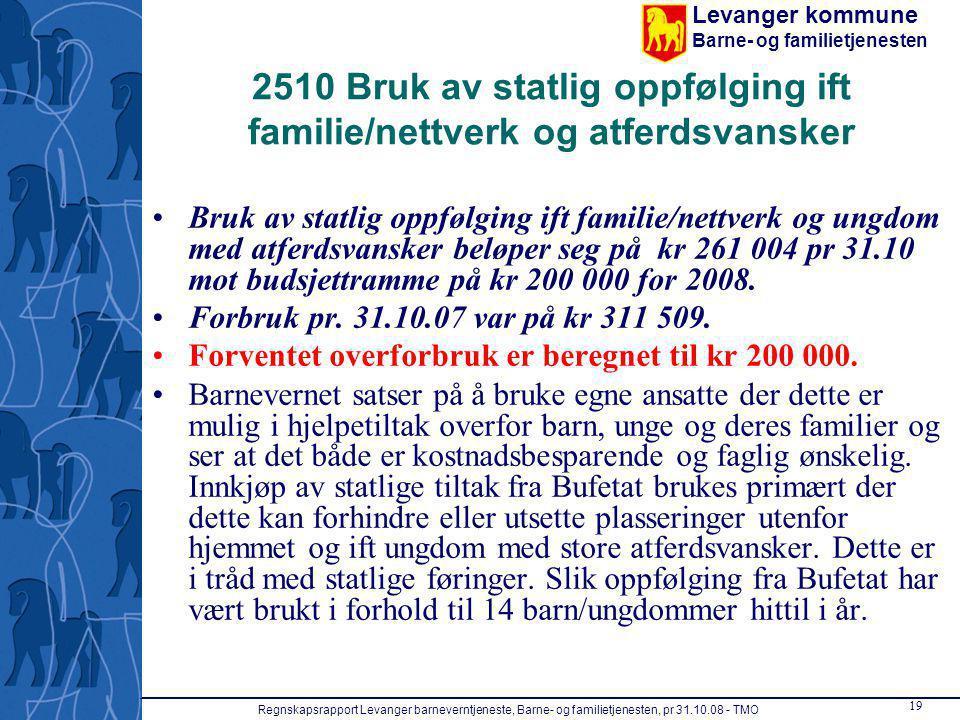 2510 Bruk av statlig oppfølging ift familie/nettverk og atferdsvansker