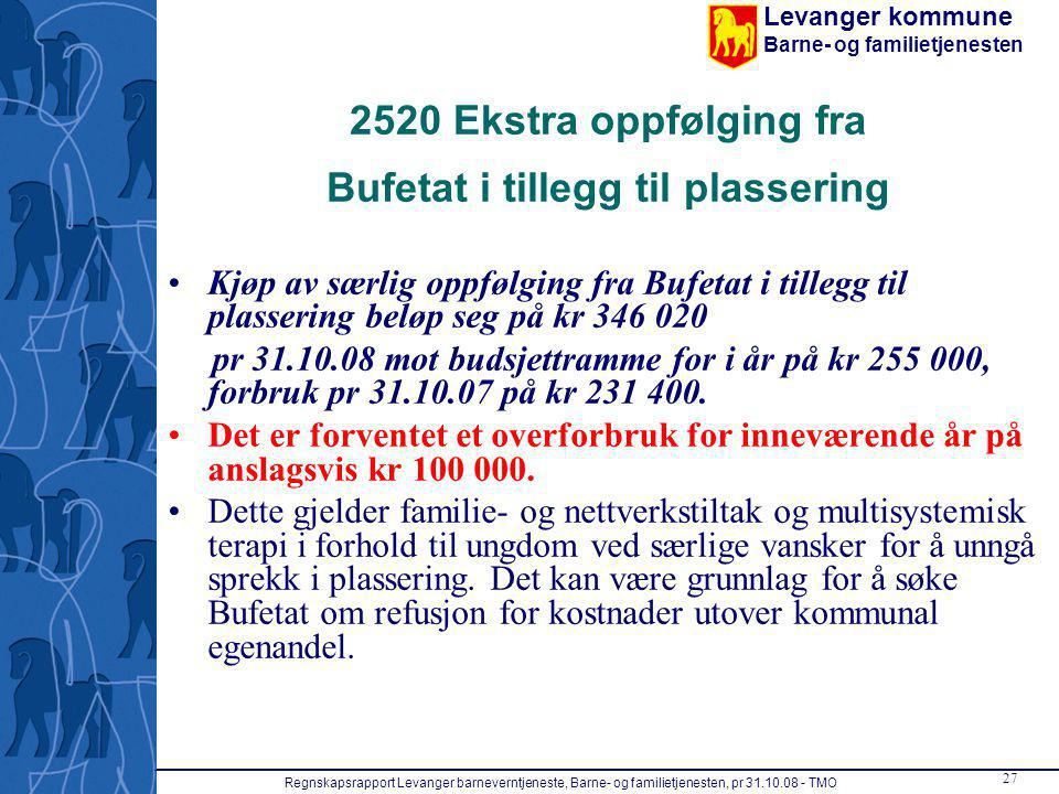 2520 Ekstra oppfølging fra Bufetat i tillegg til plassering