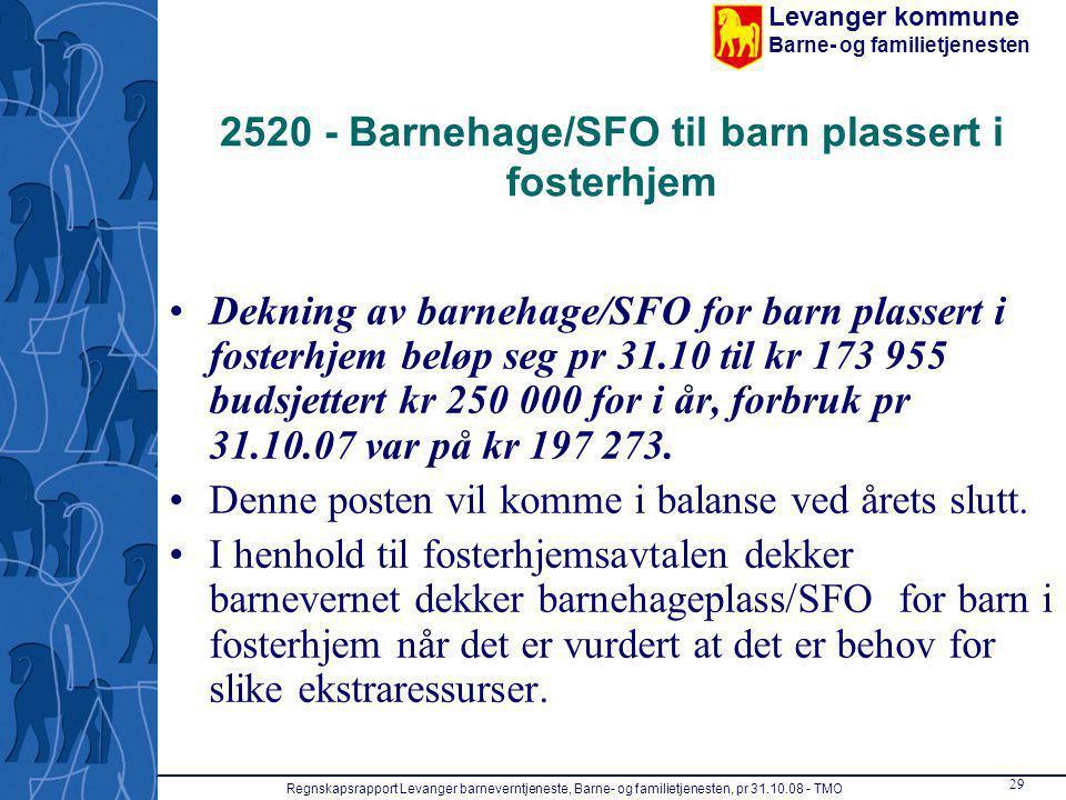 2520 - Barnehage/SFO til barn plassert i fosterhjem