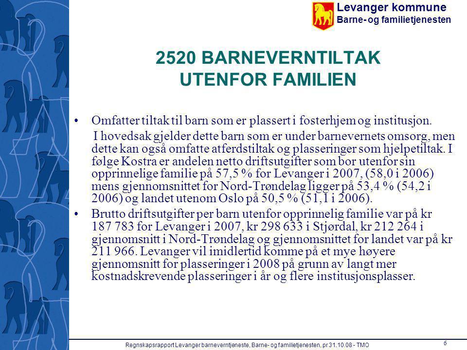 2520 BARNEVERNTILTAK UTENFOR FAMILIEN