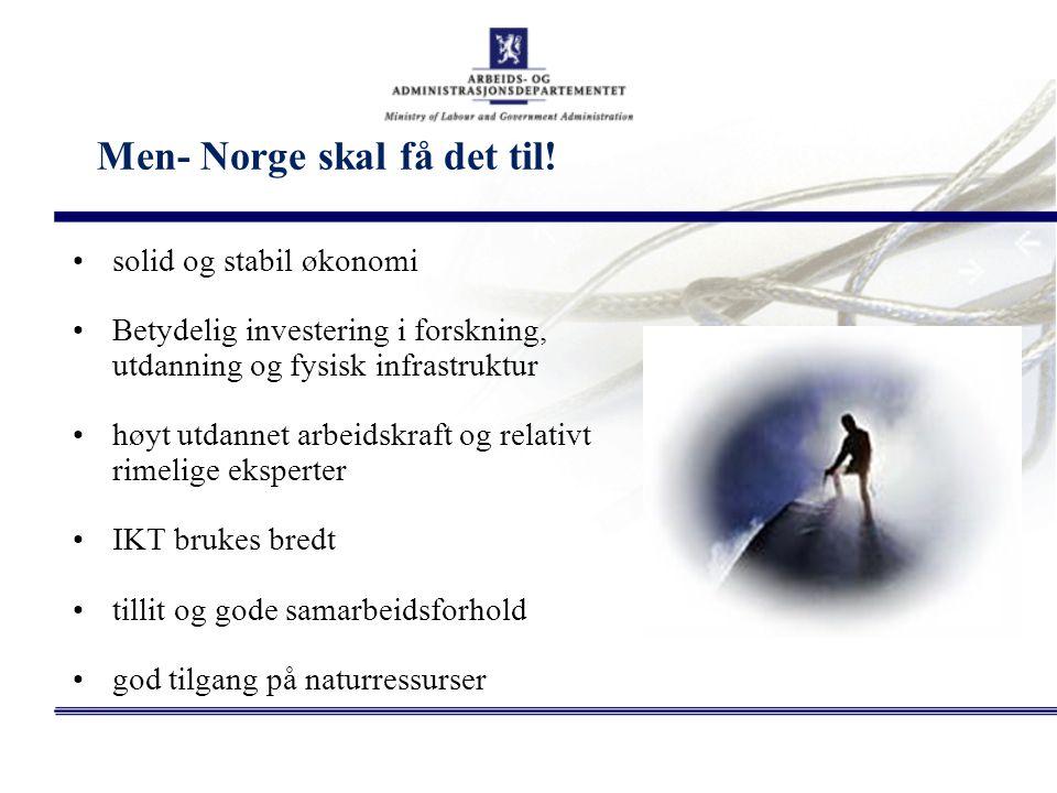 Men- Norge skal få det til!