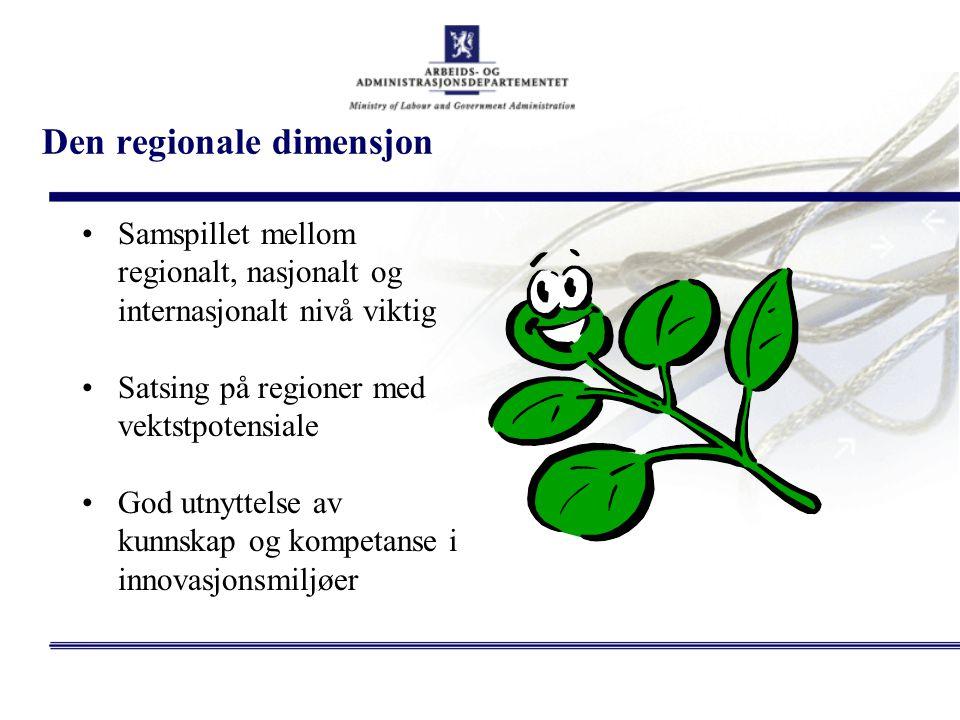 Den regionale dimensjon