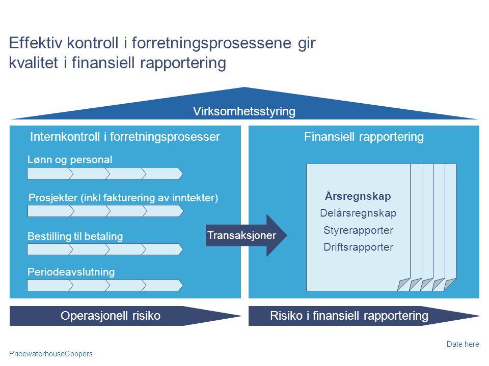 Effektiv kontroll i forretningsprosessene gir kvalitet i finansiell rapportering