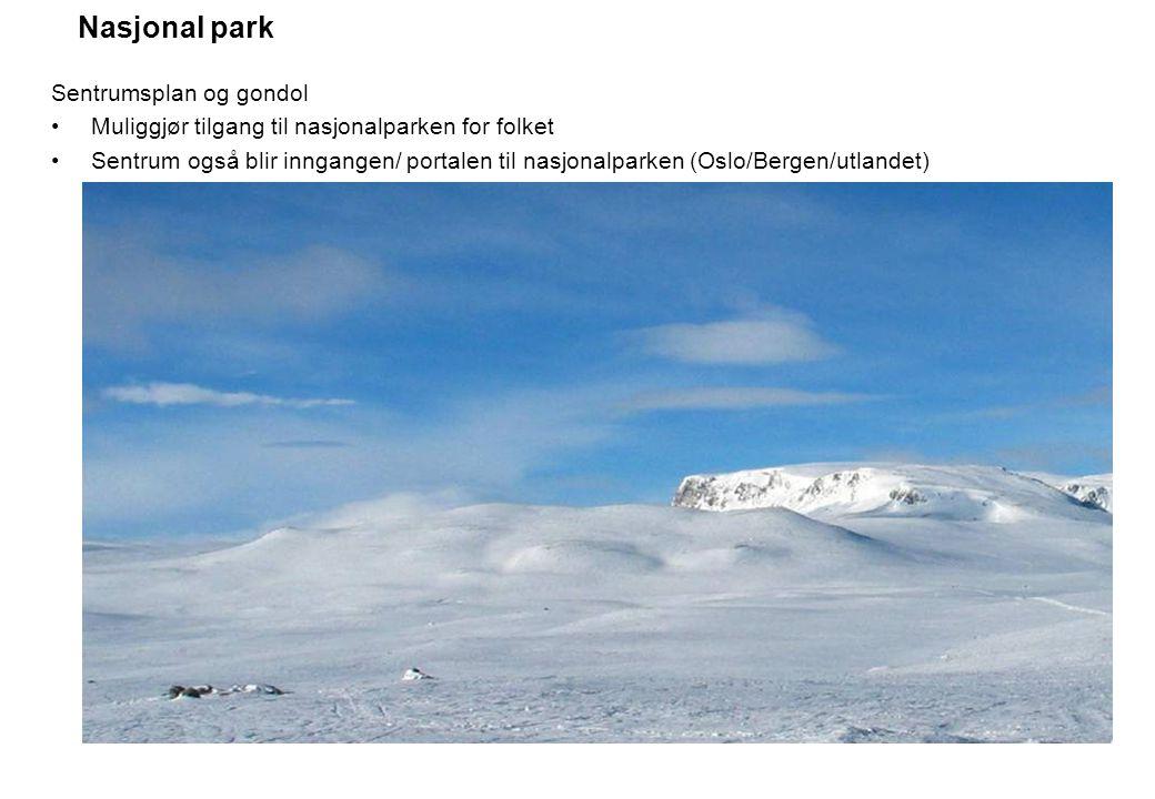 Nasjonal park Sentrumsplan og gondol