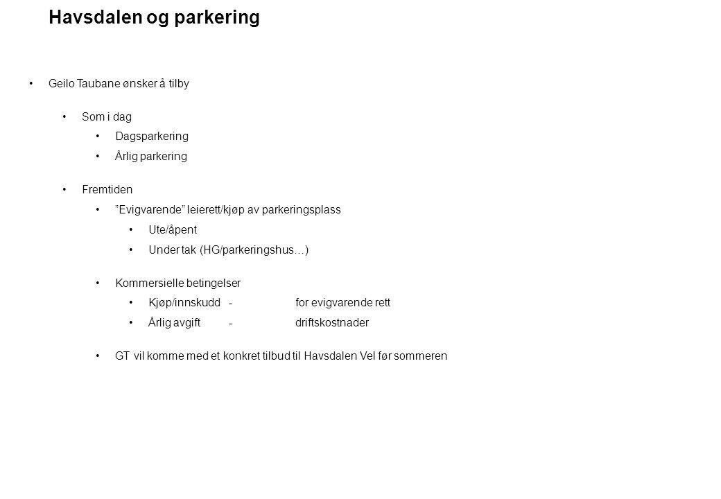 Havsdalen og parkering