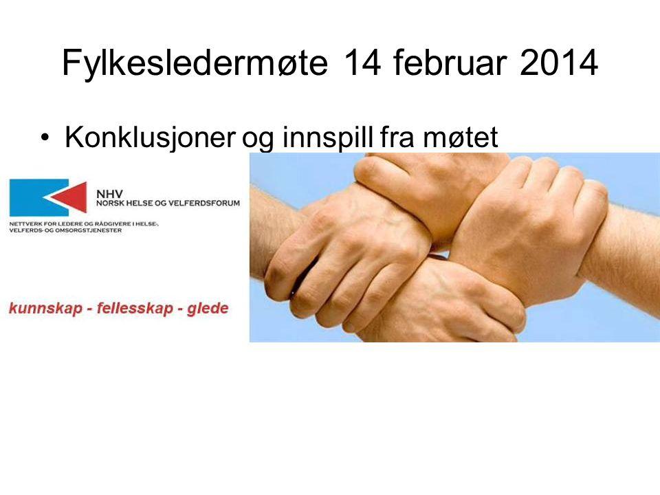 Fylkesledermøte 14 februar 2014