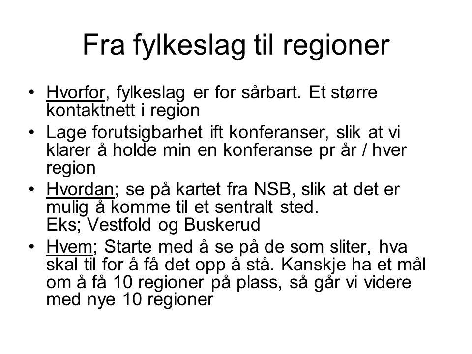 Fra fylkeslag til regioner