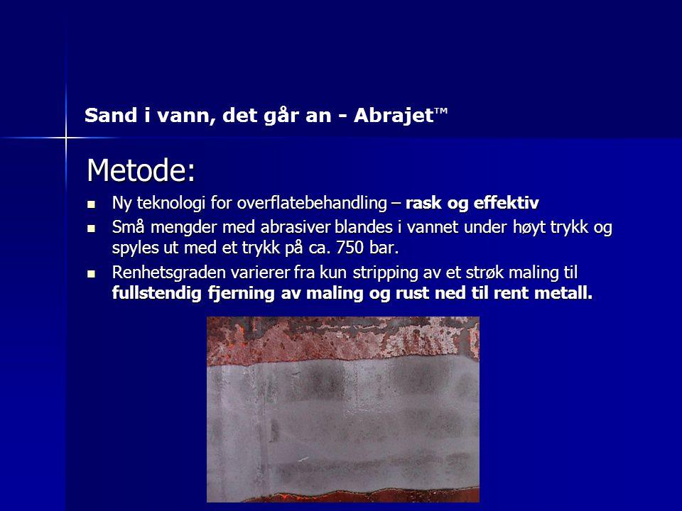 Metode: Sand i vann, det går an - Abrajet ™