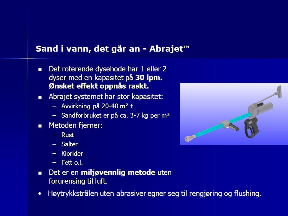 Sand i vann, det går an - Abrajet