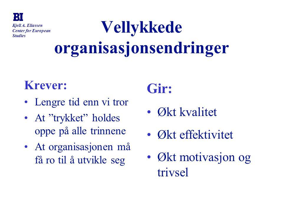 Vellykkede organisasjonsendringer