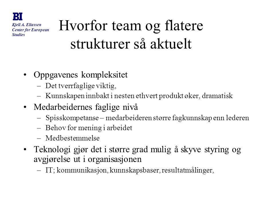 Hvorfor team og flatere strukturer så aktuelt