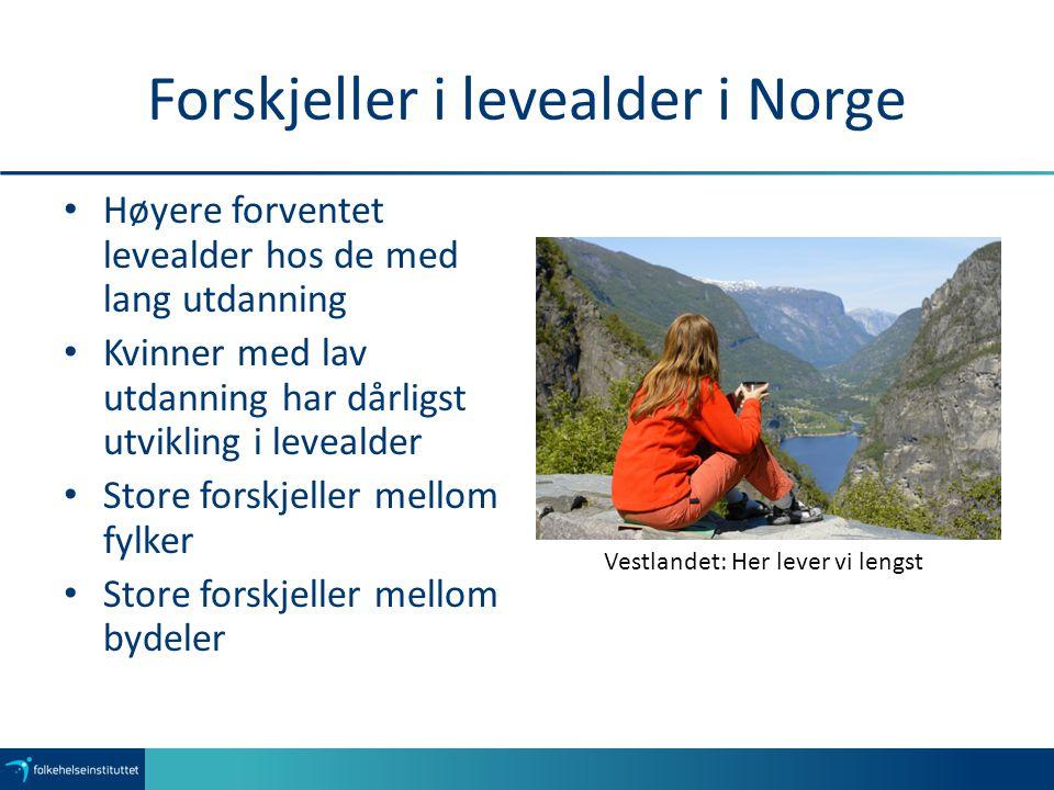 Forskjeller i levealder i Norge