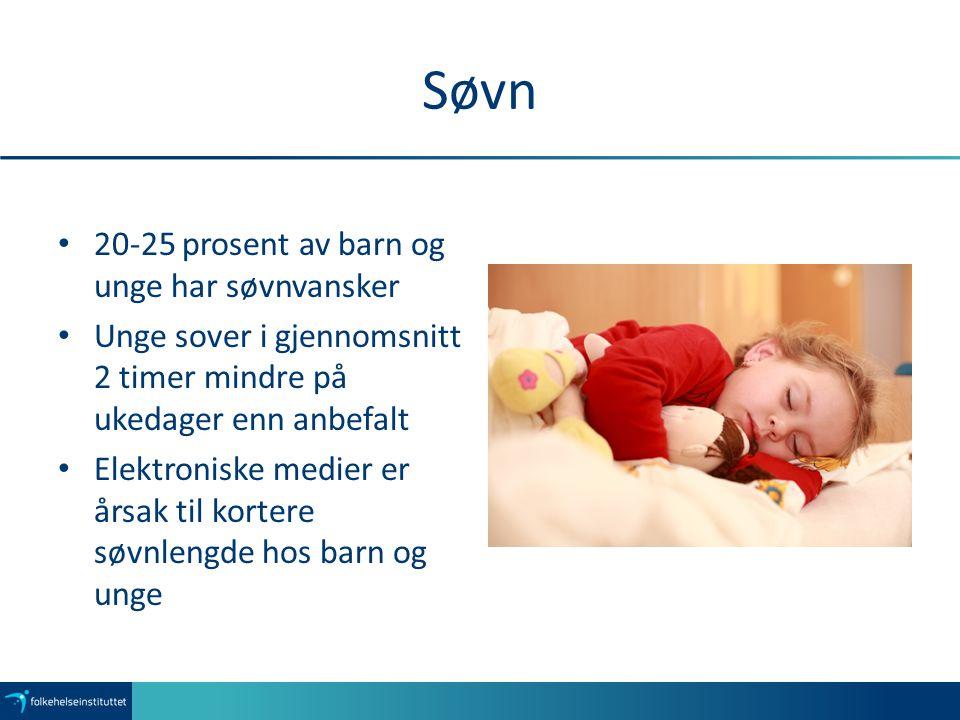 Søvn 20-25 prosent av barn og unge har søvnvansker