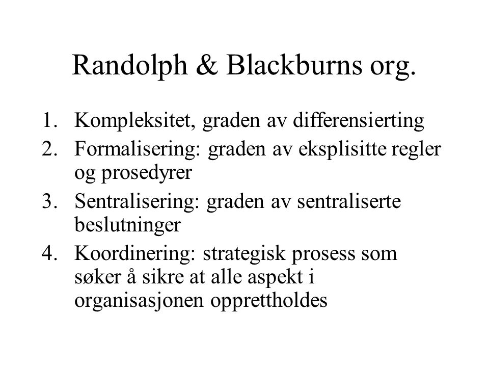 Randolph & Blackburns org.