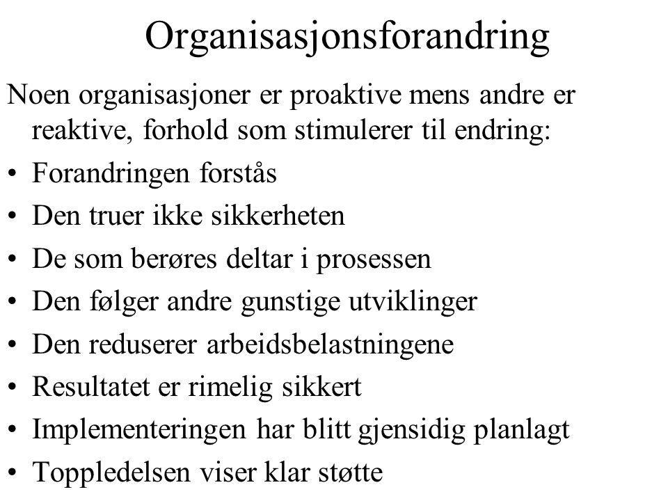 Organisasjonsforandring