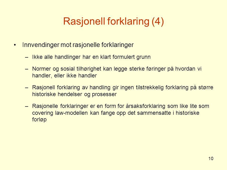 Rasjonell forklaring (4)