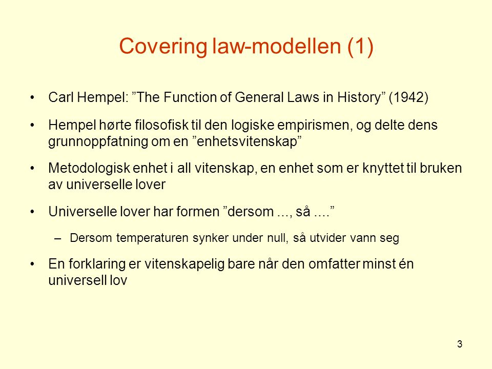 Covering law-modellen (1)