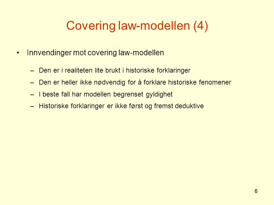 Covering law-modellen (4)