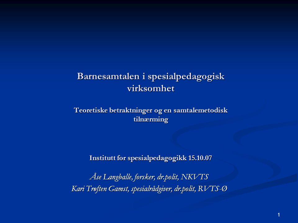 Åse Langballe, forsker, dr.polit, NKVTS