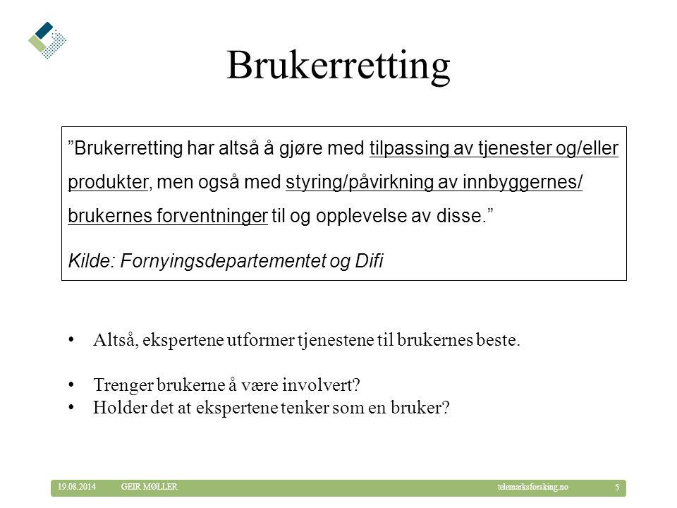 Brukerretting