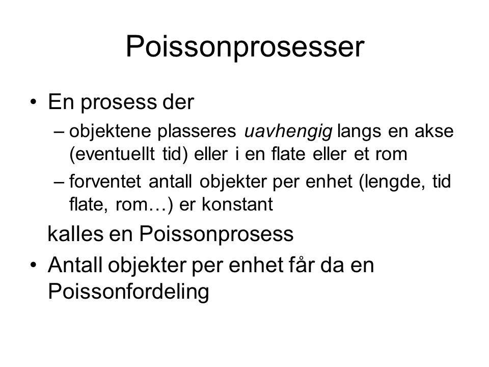 Poissonprosesser En prosess der kalles en Poissonprosess