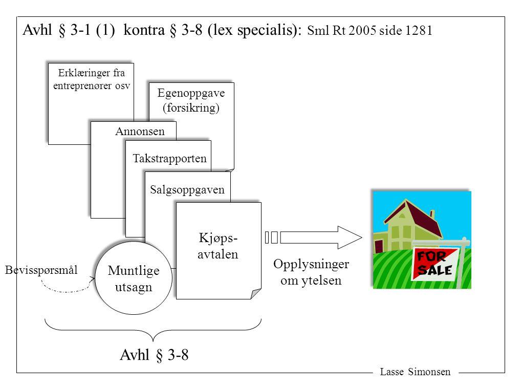Avhl § 3-1 (1) kontra § 3-8 (lex specialis): Sml Rt 2005 side 1281