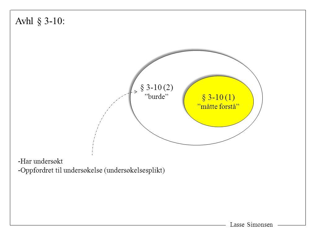 Avhl § 3-10: § 3-10 (2) § 3-10 (1) burde måtte forstå