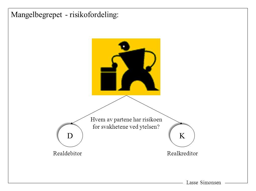 Mangelbegrepet - risikofordeling: