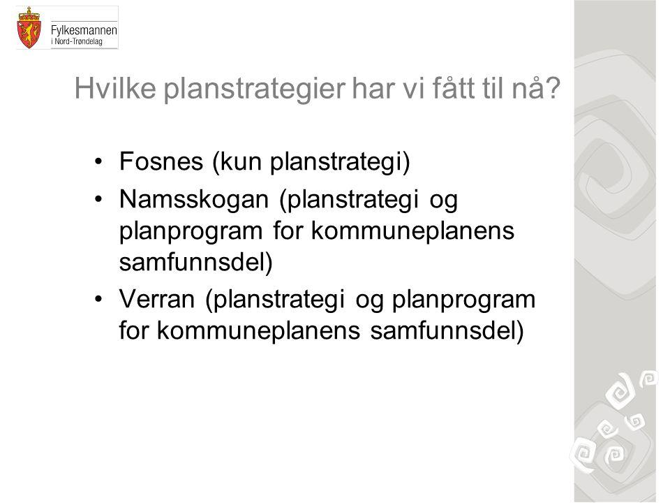 Hvilke planstrategier har vi fått til nå