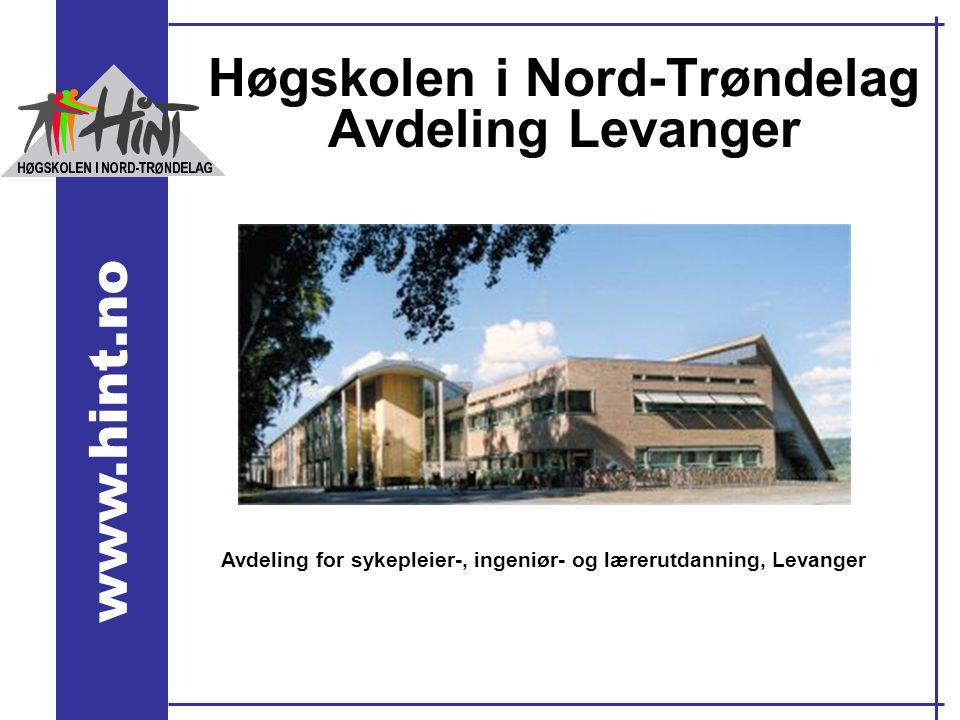 Høgskolen i Nord-Trøndelag Avdeling Levanger