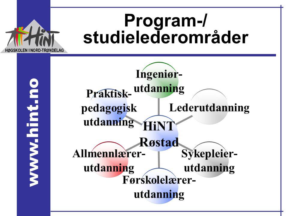 Program-/ studielederområder