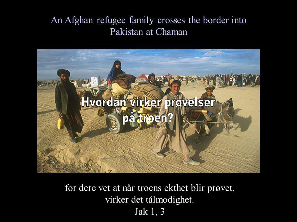 An Afghan refugee family crosses the border into Pakistan at Chaman