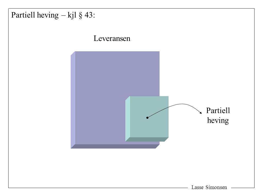 Partiell heving – kjl § 43: