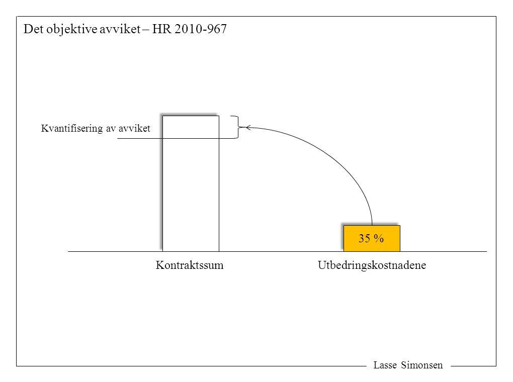 Det objektive avviket – HR 2010-967