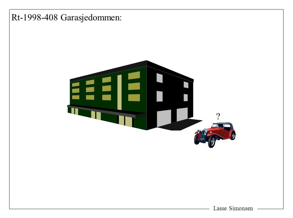 Rt-1998-408 Garasjedommen: Lasse Simonsen