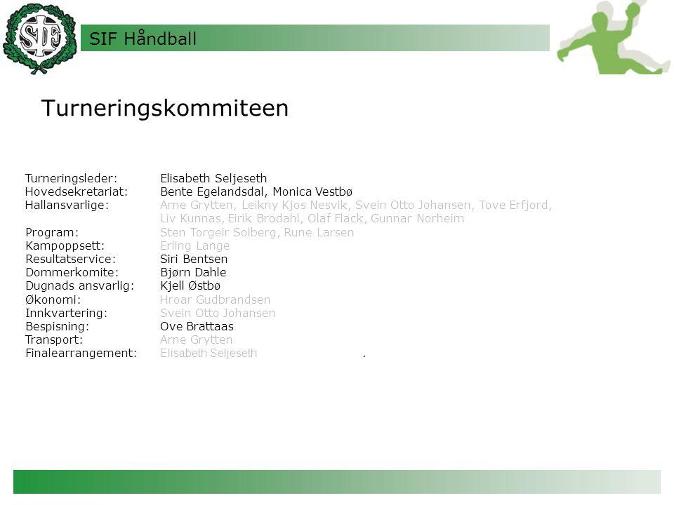 Turneringskommiteen Turneringsleder: Elisabeth Seljeseth