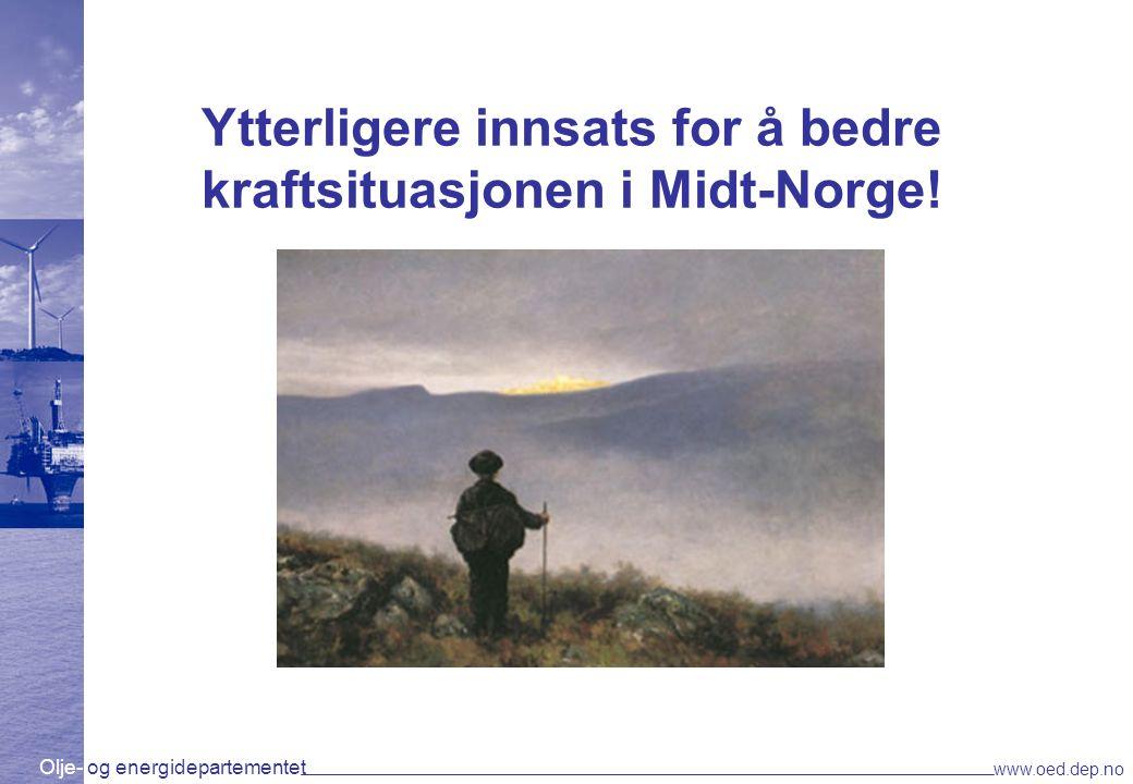 Ytterligere innsats for å bedre kraftsituasjonen i Midt-Norge!