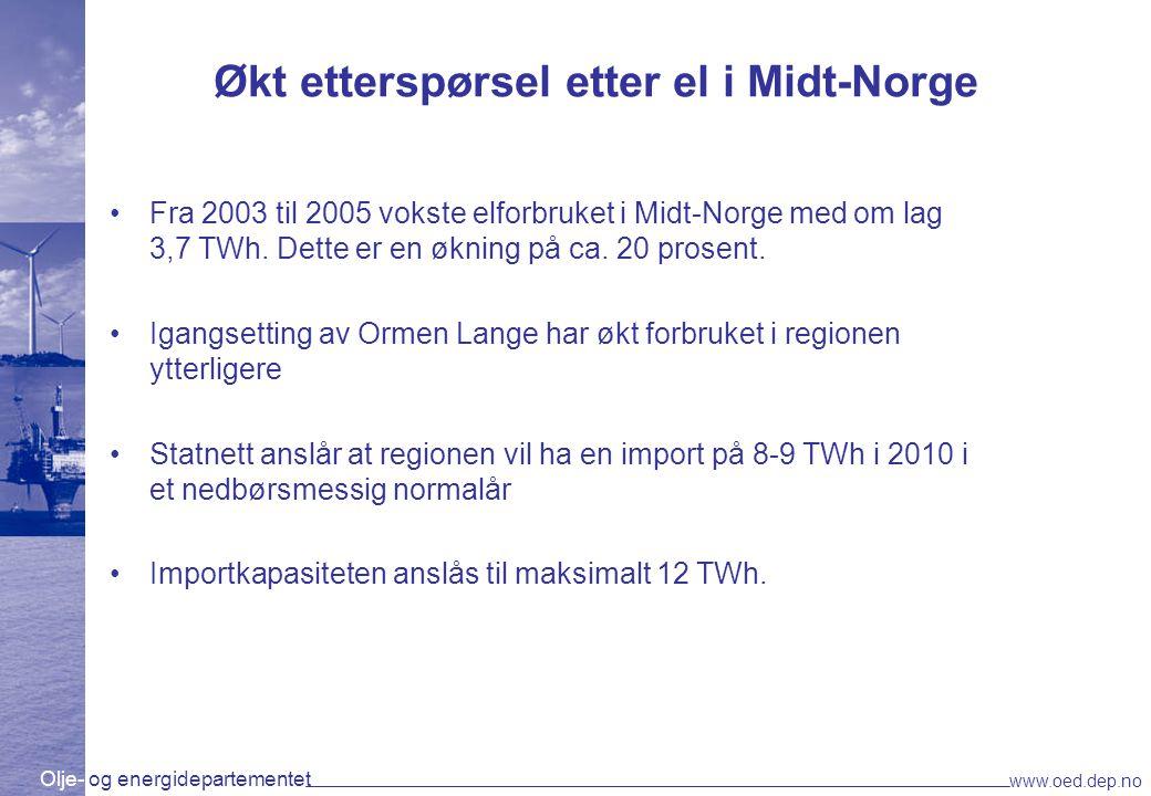 Økt etterspørsel etter el i Midt-Norge
