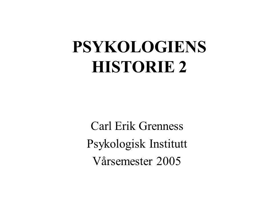 PSYKOLOGIENS HISTORIE 2