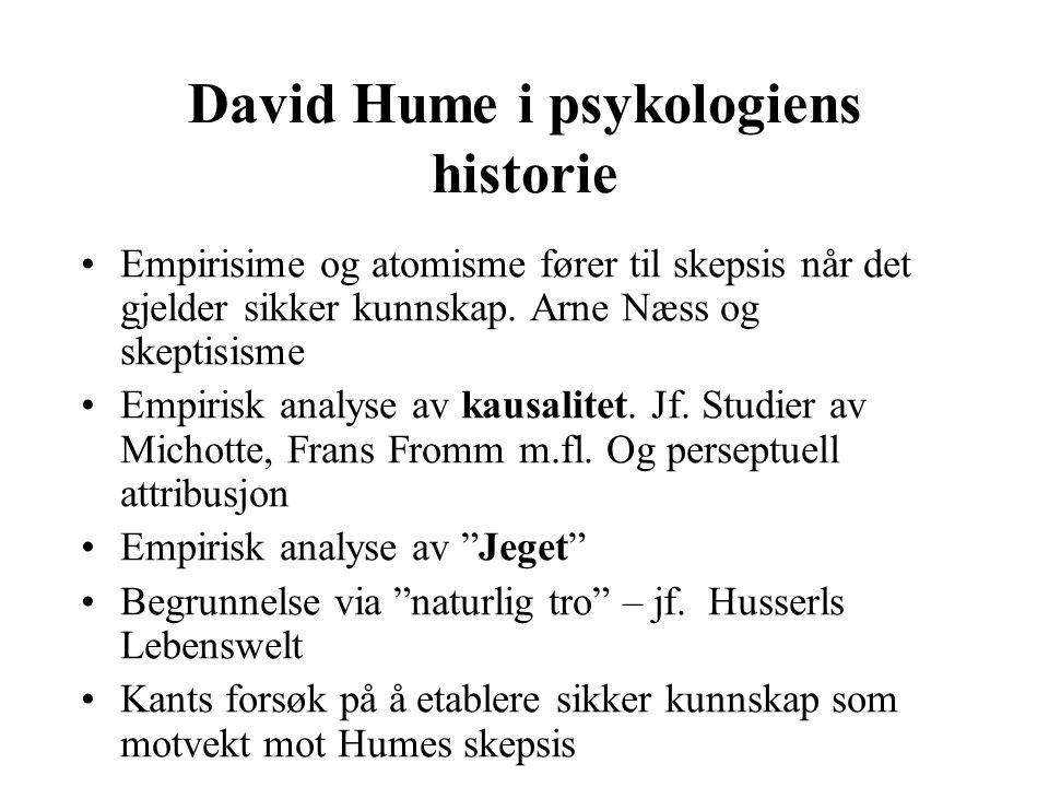 David Hume i psykologiens historie