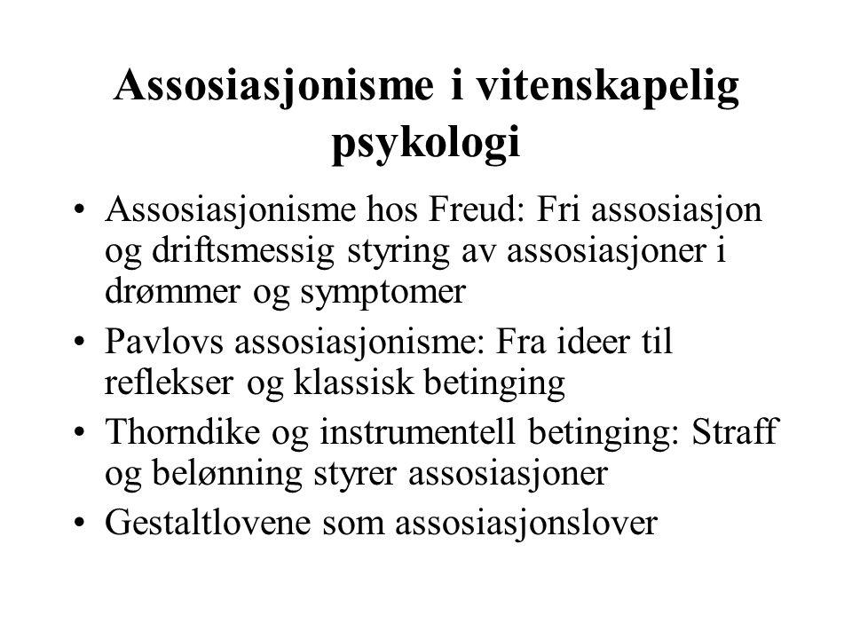 Assosiasjonisme i vitenskapelig psykologi