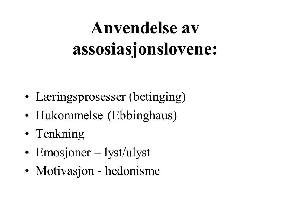 Anvendelse av assosiasjonslovene: