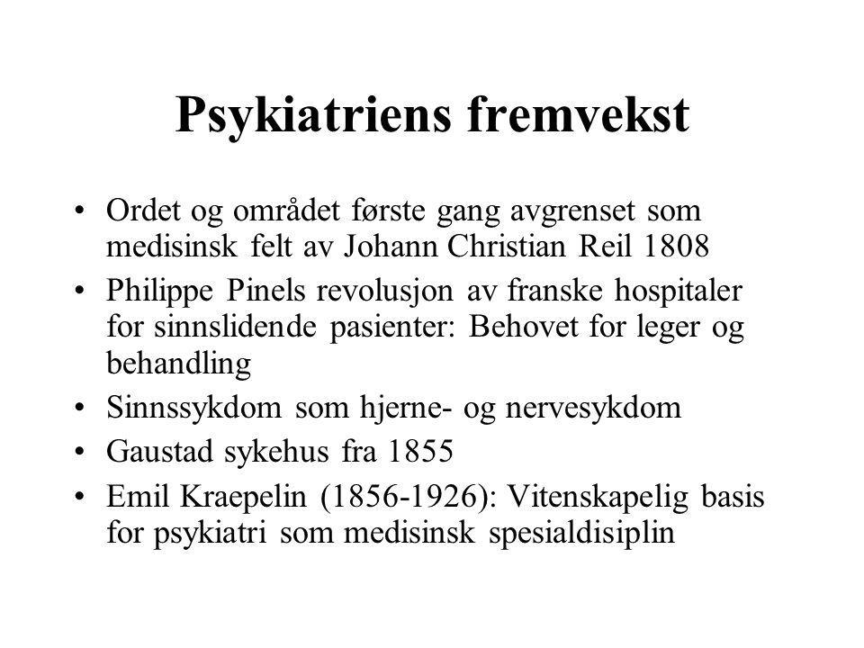 Psykiatriens fremvekst