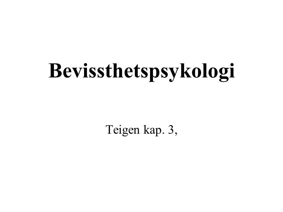 Bevissthetspsykologi