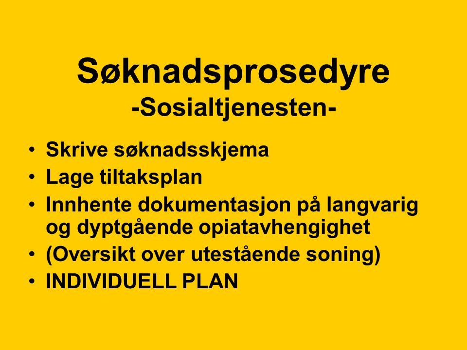 Søknadsprosedyre -Sosialtjenesten-
